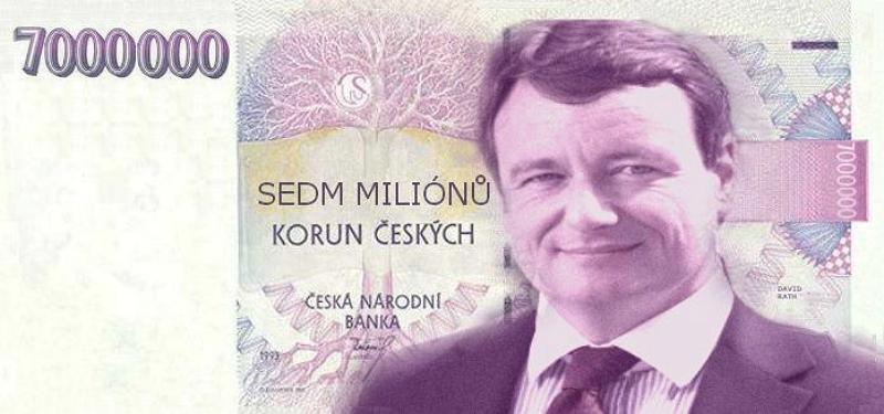 David Rath a 7 milion bankovka