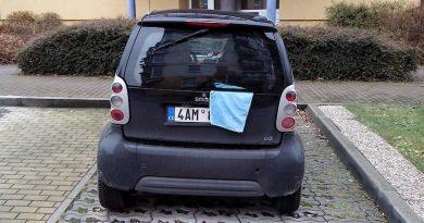 Skrývání SPZ před šmírovacími auty